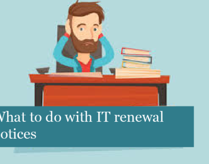 What to do with IT renewal notices