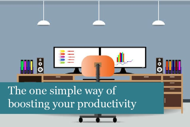 The one simple way of boosting your productivity
